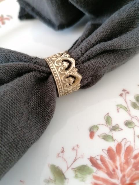 4 mini ronds de serviette couronne